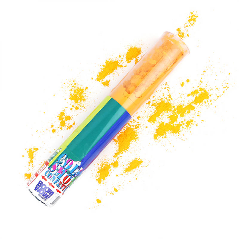 Boomwow Colorful PVC Tube Holi Powder Popper-Orange