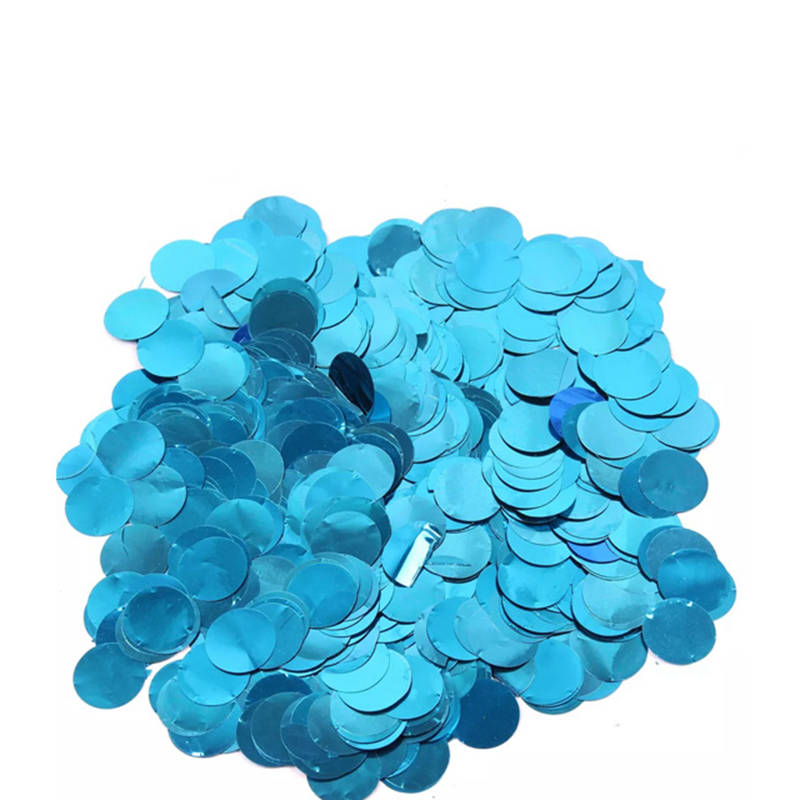 Boomwow metallic round confetti for party decoration-blue