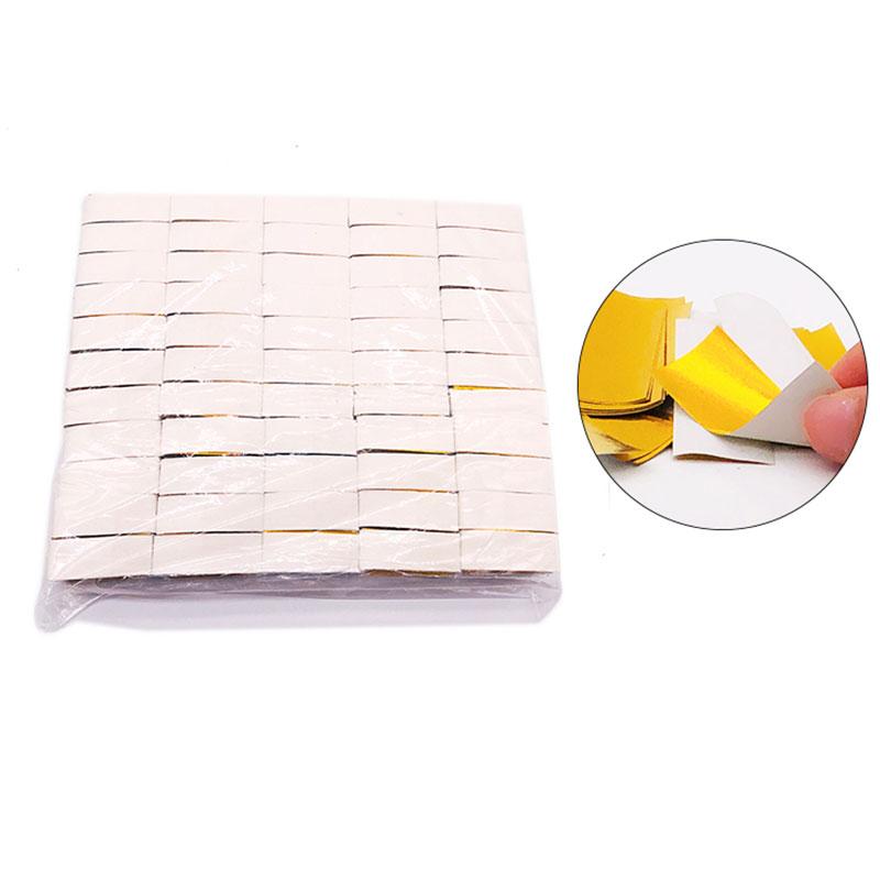 Shiny Gold+White Paper Slips