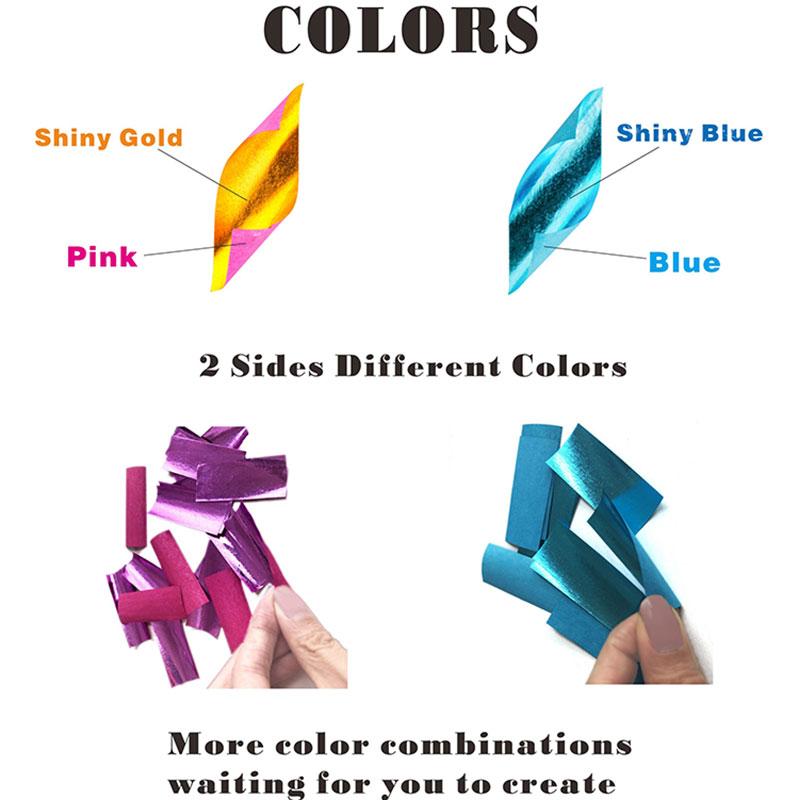 Shiny Blue+White+Red Paper Slips