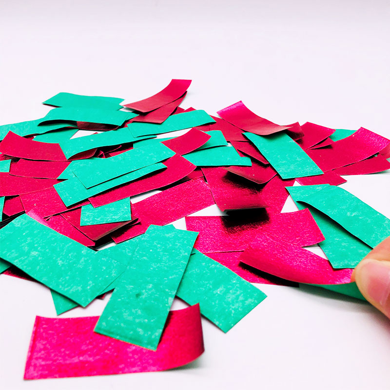 Shiny Red+Green Paper Slips