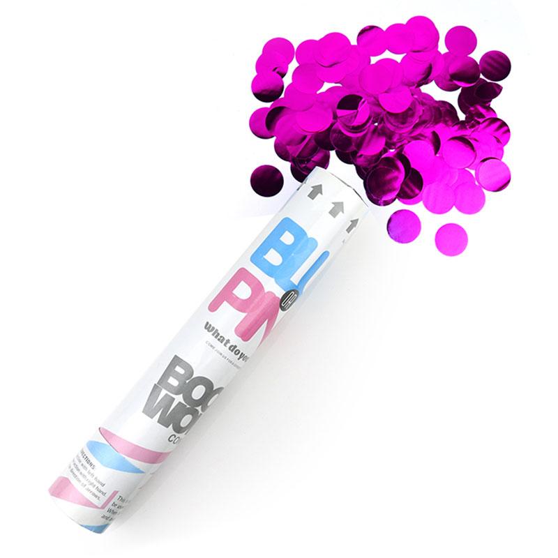 Gender Reveal Metallic Confetti Cannon