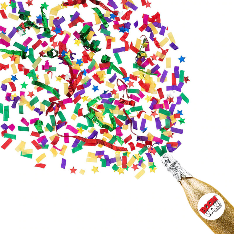 Boomwow High Quality Gold Champagne Confetti Shooter