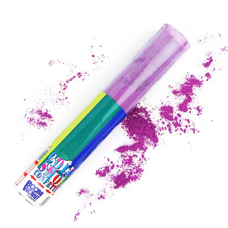 Boomwow Hot Sale Holi Powder PVC Tube Party Popper-Purple