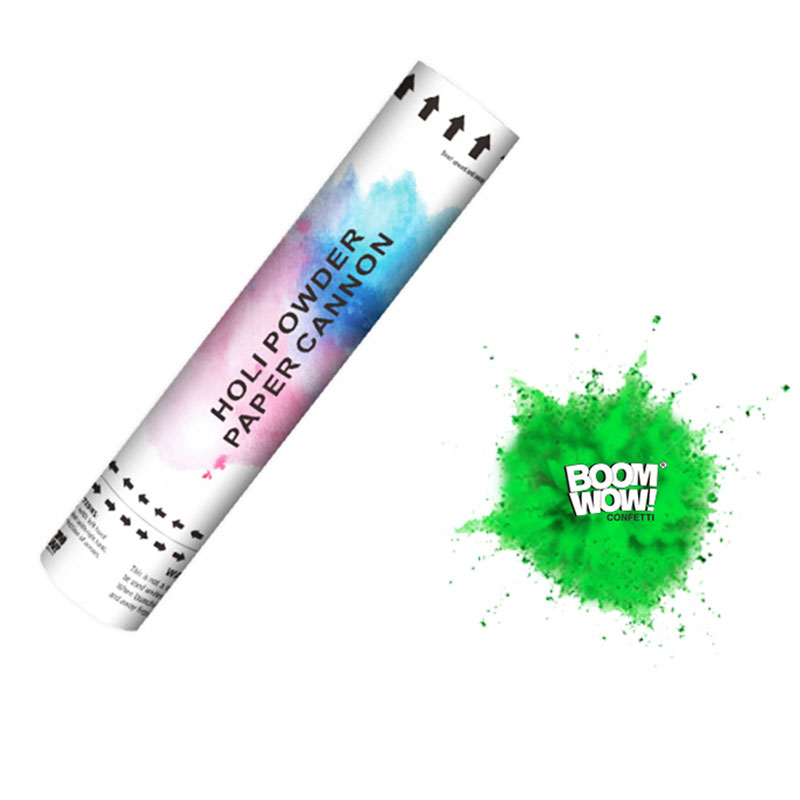 Boomwow Colorful Holi Powder Confetti Cannon for Color Run-Green