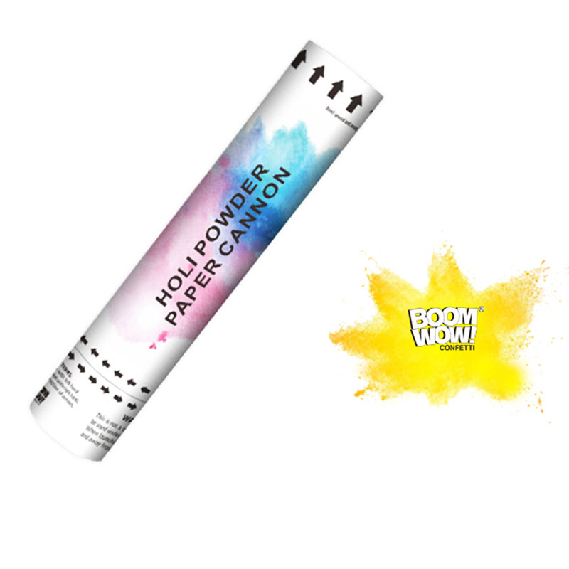 Boomwow Colorful Holi Powder Confetti Cannon for Color Run-Yellow