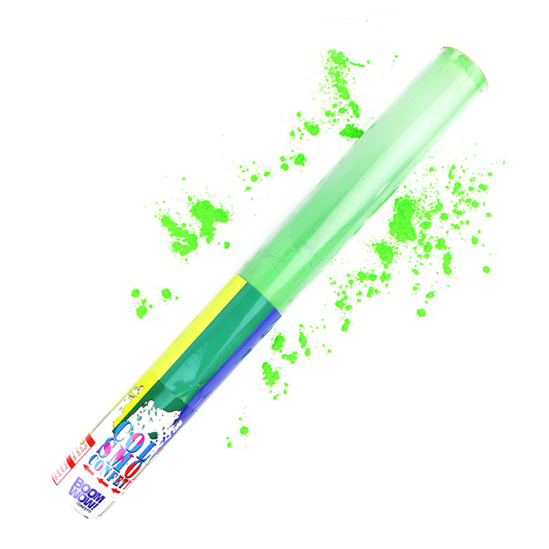 Boomwow Colorful PVC Tube Holi Powder Popper-Green