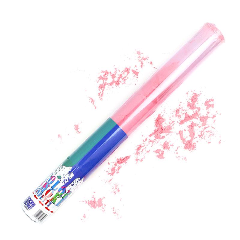 Boomwow Colorful PVC Tube Holi Powder Popper-Pink
