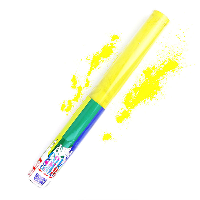 Boomwow Colorful PVC Tube Holi Powder Popper-Yellow