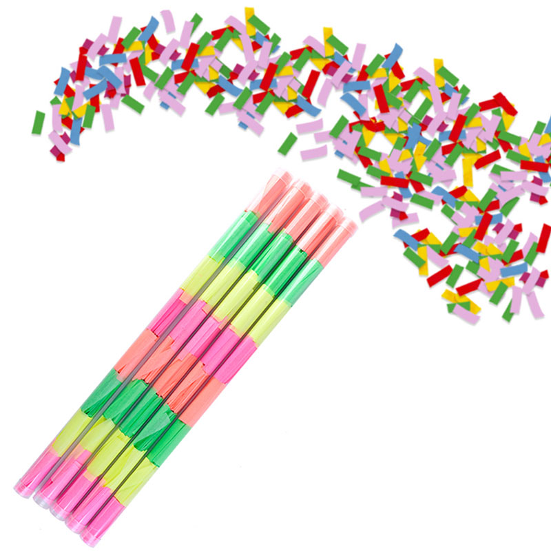 Boomwow Colorful Biodegradable Tissue Paper Confetti Slips Flick-PVC Tube