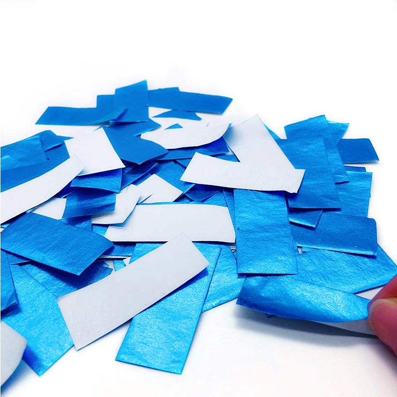 Shiny Blue+White Paper Slips