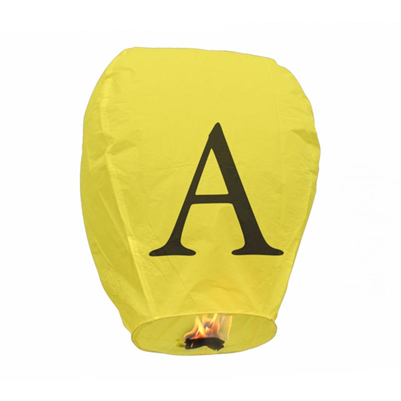 Boomwow 100% biodegradable flame retardant folded letter paper lantern flying sky lantern