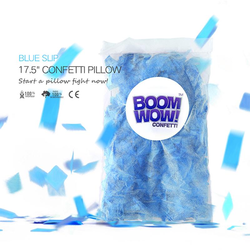 Blue Slips Confetti Pillow