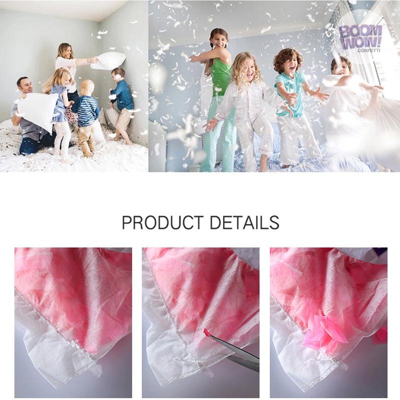 ECO Paper Confetti Pillow