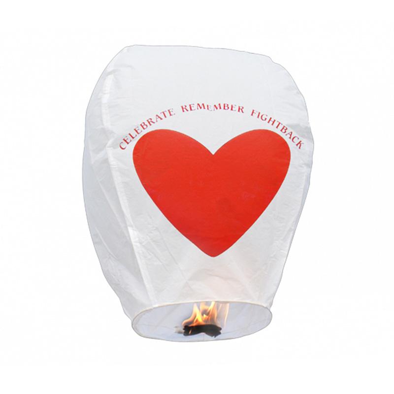 Boomwow 100% biodegradable flame retardant folded love paper lantern flying sky lantern