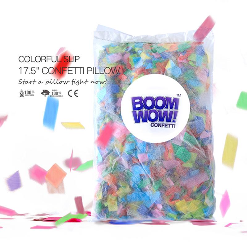 Colorful Slips Confetti Pillow