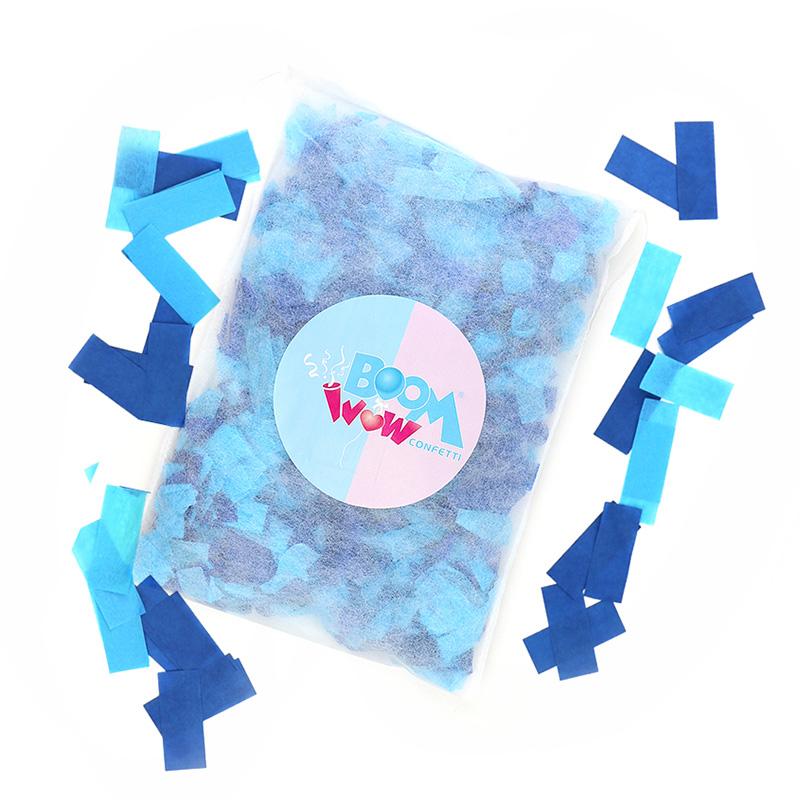 Gender Reveal Blue Slips Confetti Pillow