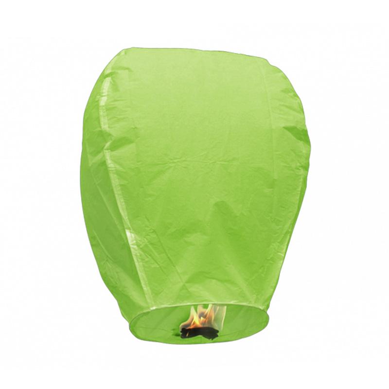 Boomwow Multicolor 100% biodegradable flame retardant folded paper lantern flying sky lantern