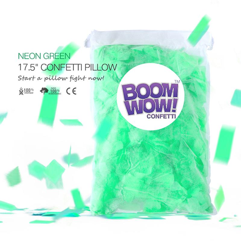 Neon Green Slips Confetti Pillow