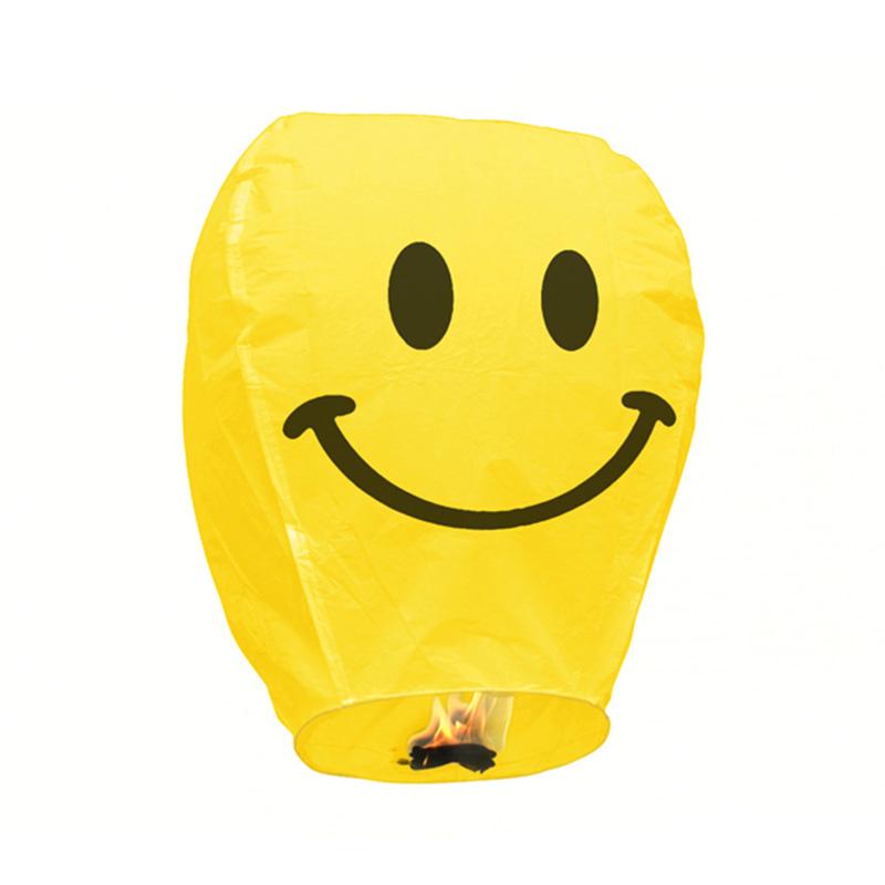 Boomwow 100% biodegradable flame retardant folded paper lantern flying sky lantern-smile