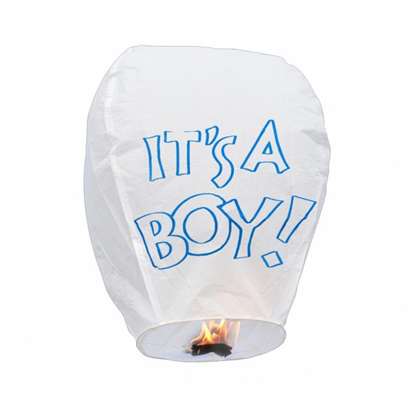 Boomwow 100% biodegradable flame retardant folded paper lantern flying sky lantern for gender reveal