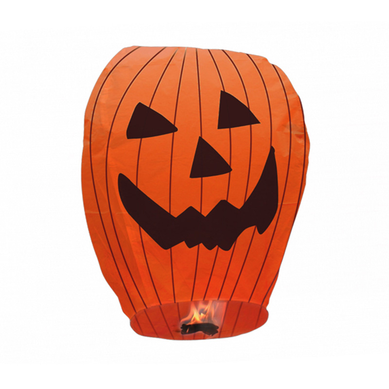 Boomwow 100% biodegradable flame retardant folded paper lantern flying sky lantern for Halloween