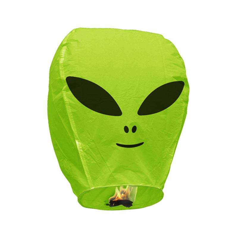 Boomwow 100% biodegradable flame retardant folded paper lantern flying sky lantern-Alien