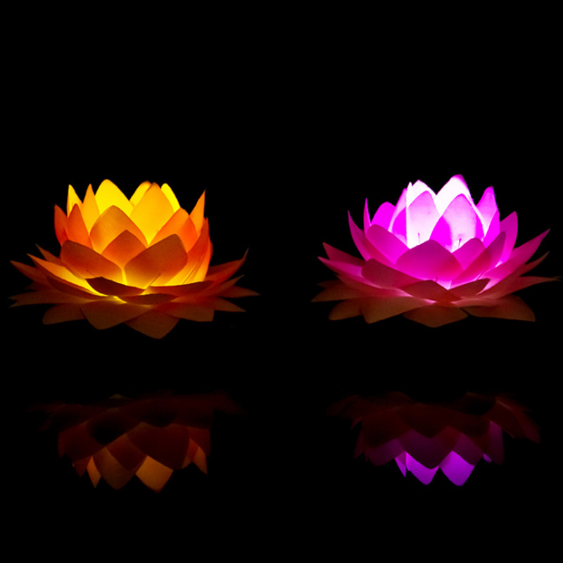 Led Candle Lotus Water Lantern