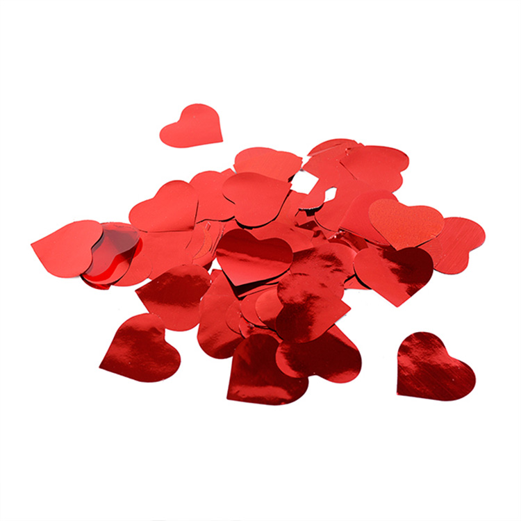Boomwow metallic red heart confetti for party decoration