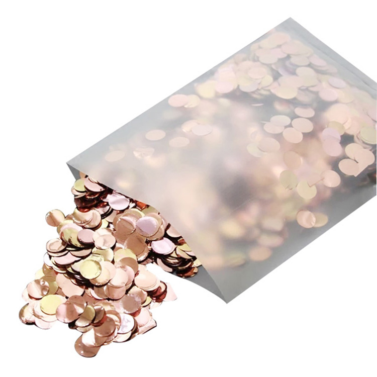 Boomwow metallic round confetti for party decoration-rose gold