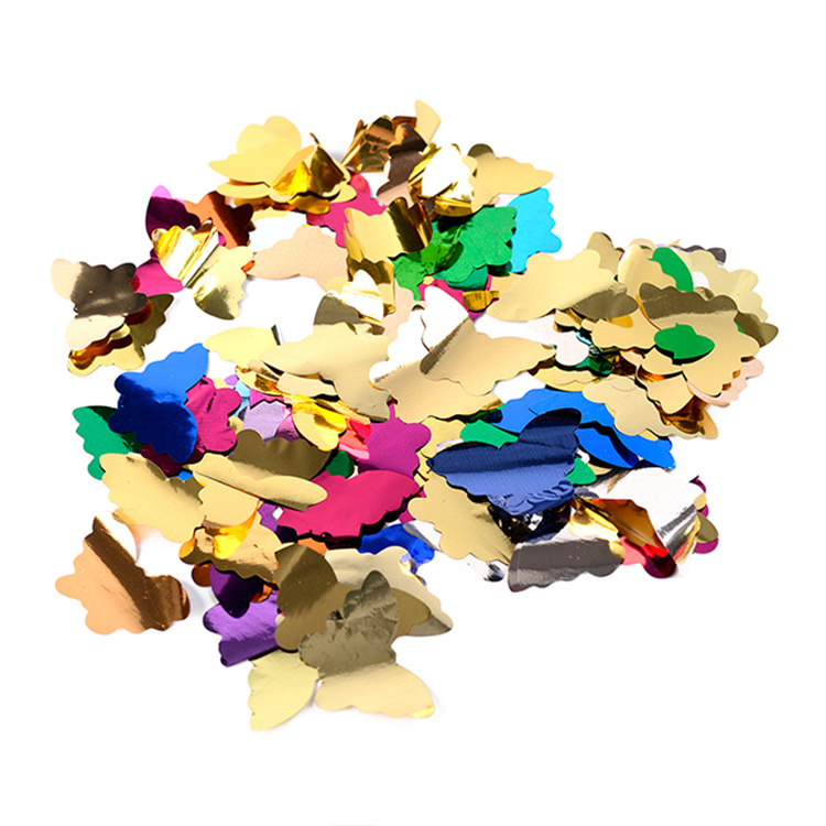 Boomwow metallic butterfly shape confetti for party decoration-colorful