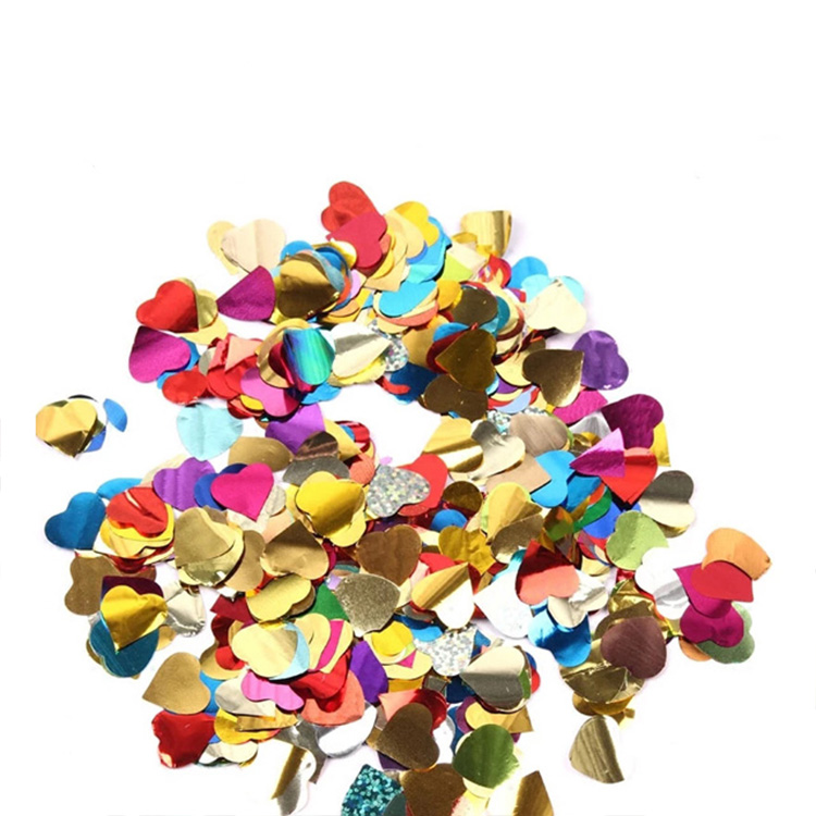 Boomwow metallic heart shape confetti for party decoration-colorful