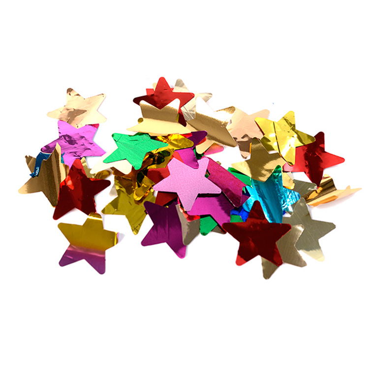 Boomwow metallic pentagram shape confetti for party decoration-colorful