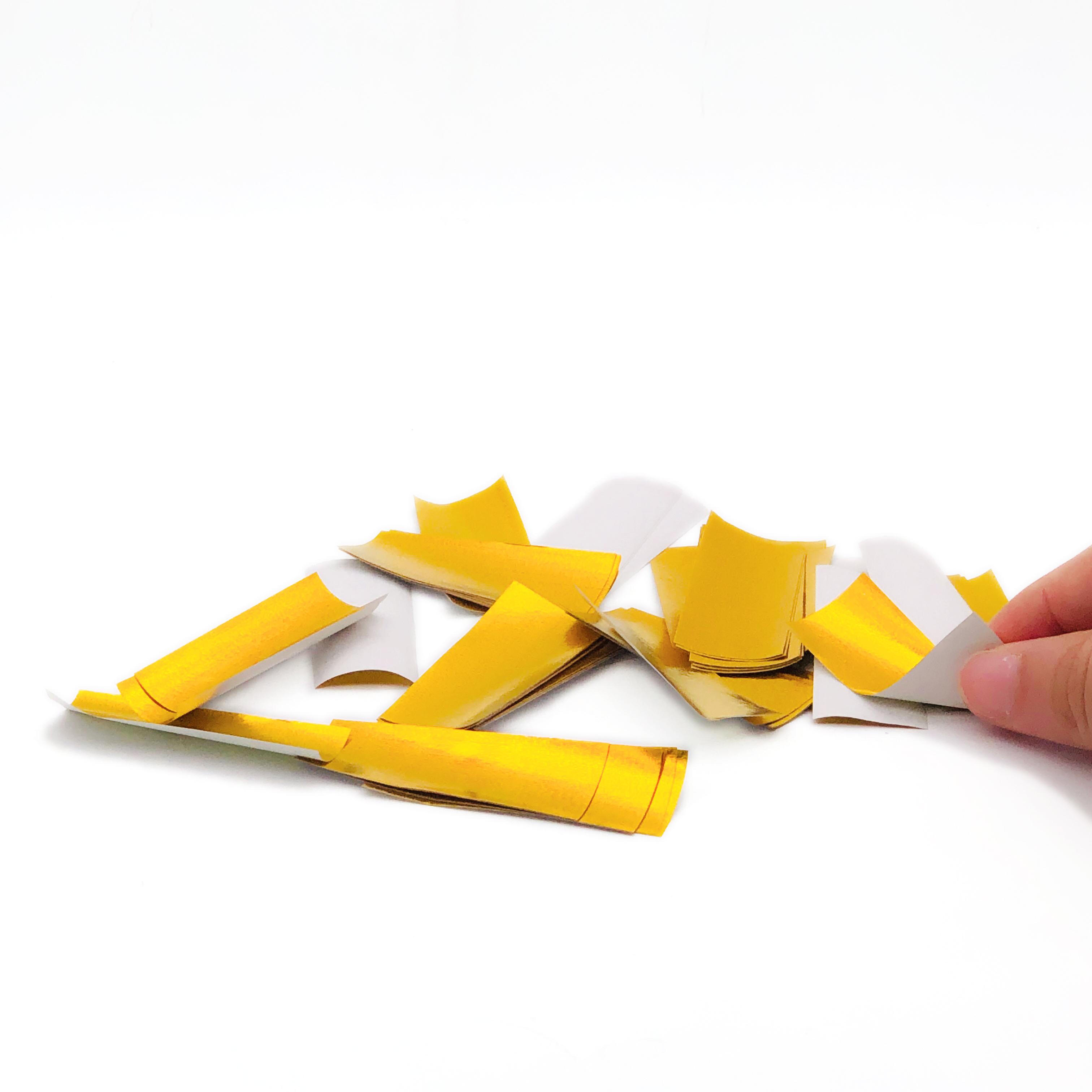 Boomwow new eco degradable shiny but non metallic tissue paper confetti-gold white
