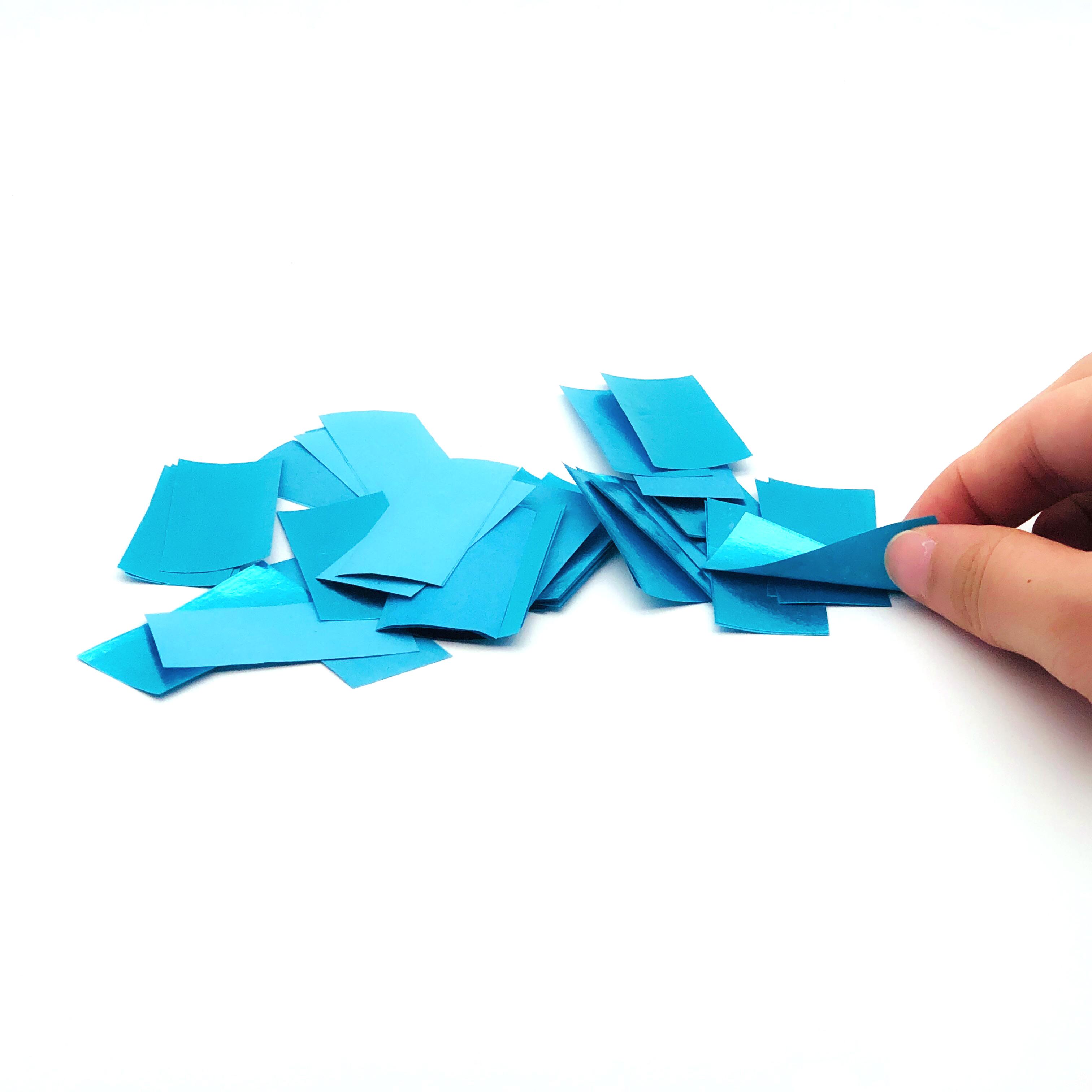 Boomwow new eco 100% biodegradable shiny blue but non metallic tissue paper confetti