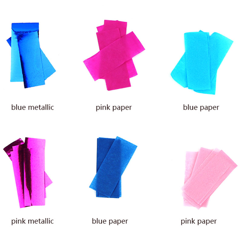 Boomwow gender reveal party supplier blue pink slips confetti
