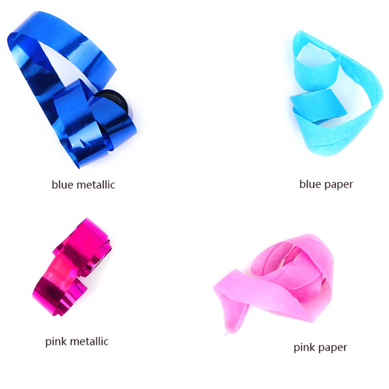 Boomwow gender reveal party supplier blue pink streamers confetti